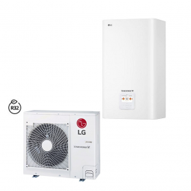 Lg Therma V Split Pompa di Calore  HU091MR Da 9 kW + Unità interna Modulo Idronico con Gas R32