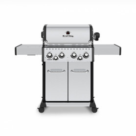 Broil King Baron Led S490 INOX Barbecue a Gas Linea Dual Tube Thermacast