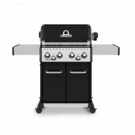 Broil King Baron Led 490 NERO Barbecue a Gas Linea Dual Tube Thermacast