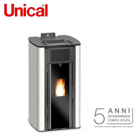 STUFA A PELLET UNICAL PUNTO IT 7,5 KW VENTILATA ERMETICA ARIA