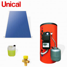UNICAL KPS  200 KIT SOLARI A CIRCOLAZIONE FORZATA BOLLITORE 200 LT   SUPERFICI  INCLINATE
