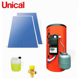 UNICAL KPS  300 KIT SOLARI A CIRCOLAZIONE FORZATA BOLLITORE 300 LT  SUPERFICI  INCLINATE