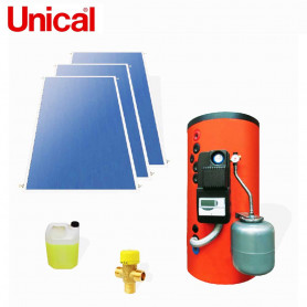 UNICAL KPS  500 KIT SOLARI A CIRCOLAZIONE FORZATA BOLLITORE 500 LT  SUPERFICI  INCLINATE